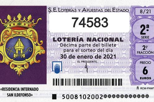 SORTEO 6/21 Nº74583