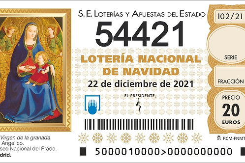 SORTEO 102/21 Nº54421