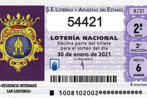 SORTEO 6/21 Nº54421