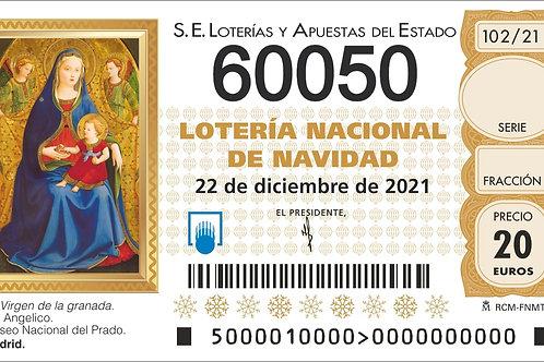 SORTEO 102/21 Nº60050