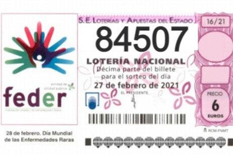 SORTEO 16/21 Nº84507