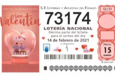 SORTEO 12/21 Nº73174