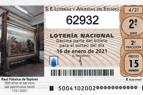 SORTEO 4/21 Nº62932