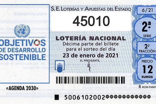 SORTEO 6/21 Nº45010