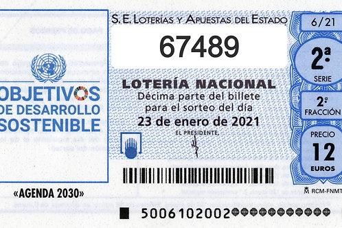 SORTEO 6/21 Nº67489