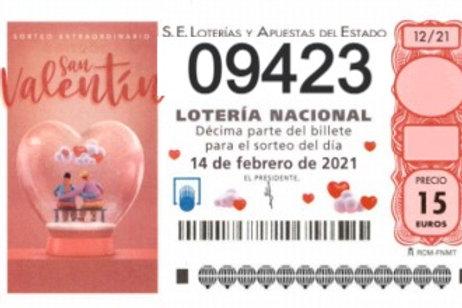 SORTEO 12/21 Nº09423