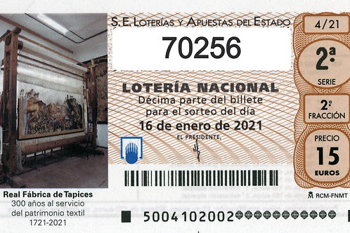 SORTEO 4/21 Nº70256