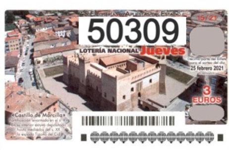 SORTEO 15/21 Nº50309