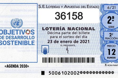 SORTEO 6/21 Nº36158