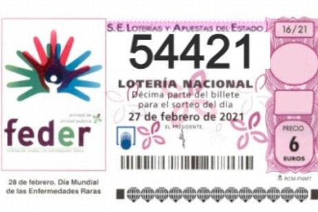 SORTEO 16/21 Nº54421