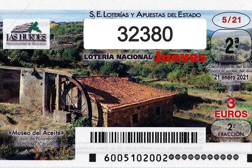SORTEO 5/21 Nº32380