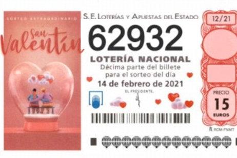 SORTEO 12/21 Nº62932
