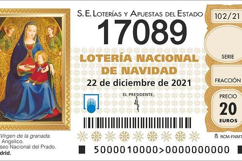 SORTEO 102/21 Nº17089