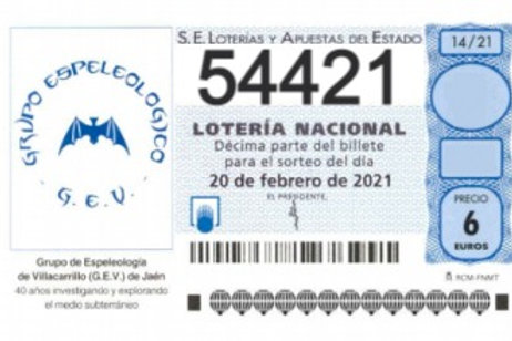 SORTEO 14/21 Nº54421