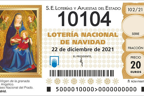 SORTEO 102/21 Nº10104