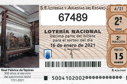 SORTEO 4/21 Nº67489
