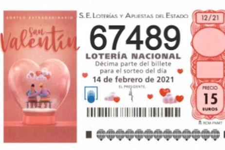SORTEO 12/21 Nº67489