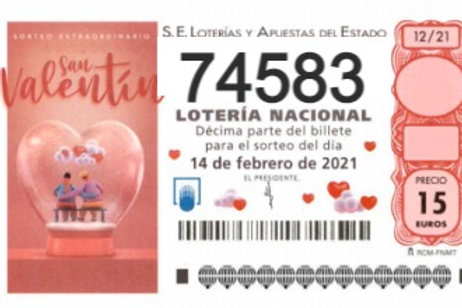 SORTEO 12/21 Nº74583