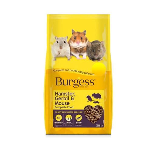 HAMSTERS - Hamster Food - Burgess Hamster/Mouse Food