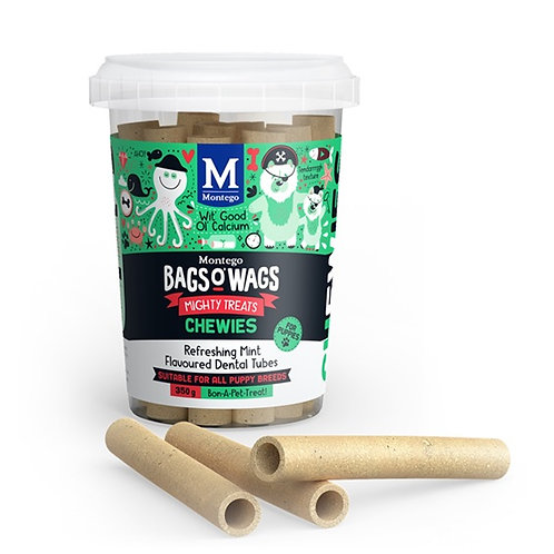 DOGS - Dog Treats -  BoW Chewies Puppies Mint Tubes