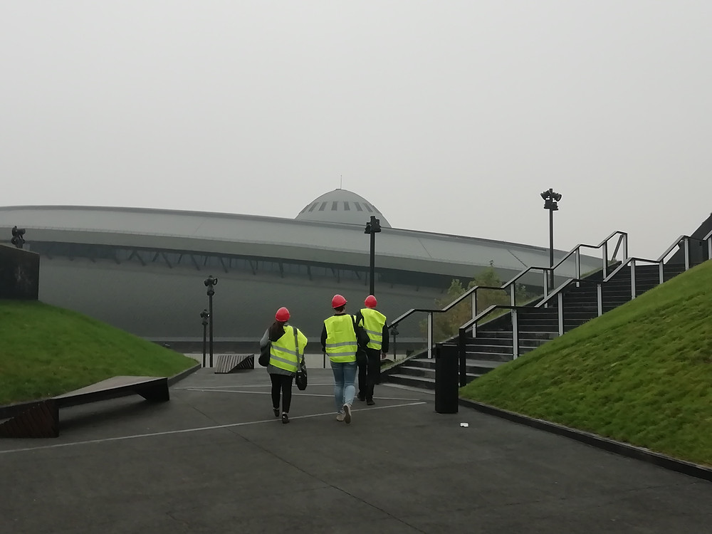 Austrian delegates on a pre-COP recce in October (hardhats during negotiations should not be necessary...)