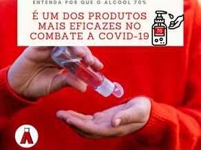 Entenda por que o álcool 70% é um dos produtos mais eficazes no combate a Covid-19
