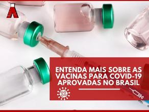 Entenda mais sobre as vacinas para  COVID-19 aprovadas no Brasil