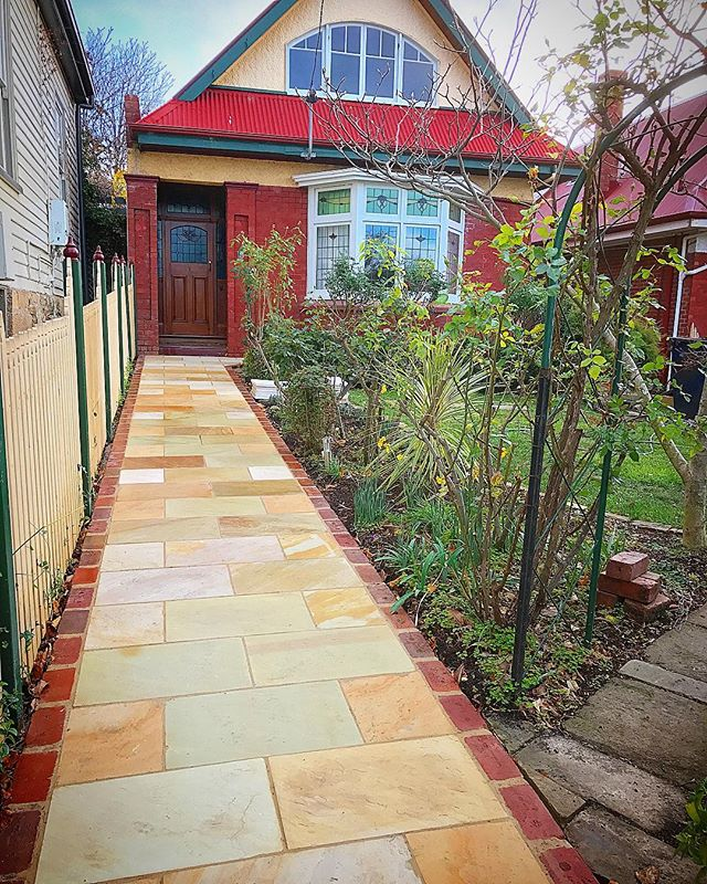 Sandstone path on our Hamilton St project