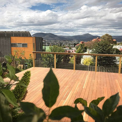 """Spotted gum deck on our Montagu St. Project. They don't call him just in time for the """"Holiday Jacks"""