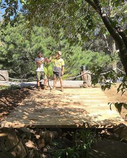 Building bridges #vandiemenslandscapes #bushbridge #hobartgardens #tasmaniangardens #landscaping #ta