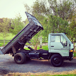 Welcome to the family tough guy! #tipper #vandiemenslandscapes #landscaping #tasmanianlandscaping