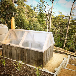 Custom raised garden bed on our Snowy Peek project