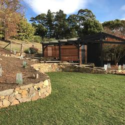 Clouds End project , stone wall #vandiemenslandscapes #tasmaniangardens #landscapedesign #gardendesi