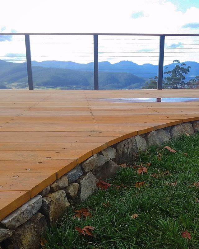 Deck detail at our Clouds End project #vandiemenslandscapes #landscapedesign #gardendesign #tasmania