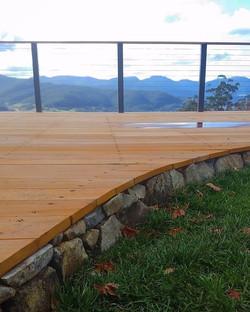 Deck detail at our Clouds End project #vandiemenslandscapes #landscapedesign #gardendesign #tasmania