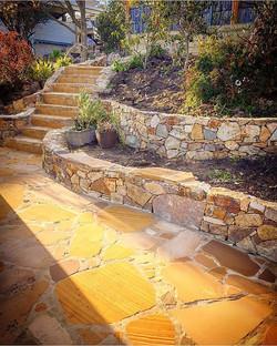 Geilston Bay Project #vandiemenslandscapes #landscapedesign #gardendesign #landscaping #stonewall #t