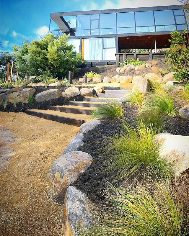 Keen Court project #vandiemenslandscapes #landscapedesign #tasmaniangardens #nativegarden #gardendes