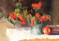 Firethorns and Apple