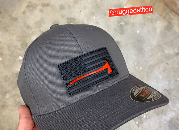 Flexfit Reflective Axe Leather Patch