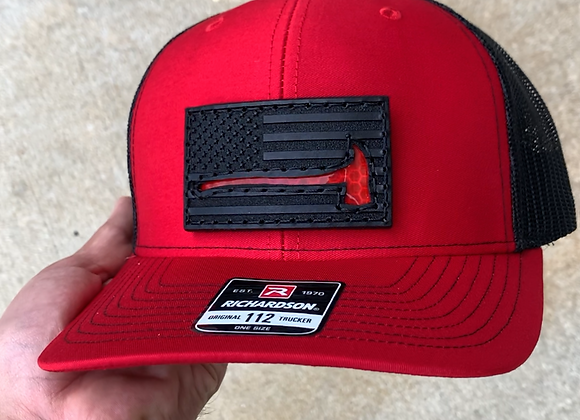 Snapback Reflective Axe Leather Patch