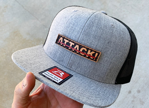 Snapback ATTACK!™ Leather Patch