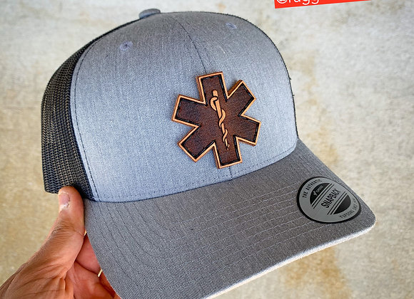 Snapback Star of Life Leather Patch