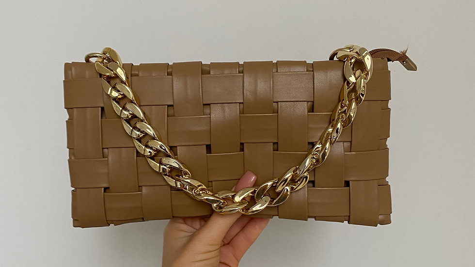 GRACIE mocha bag