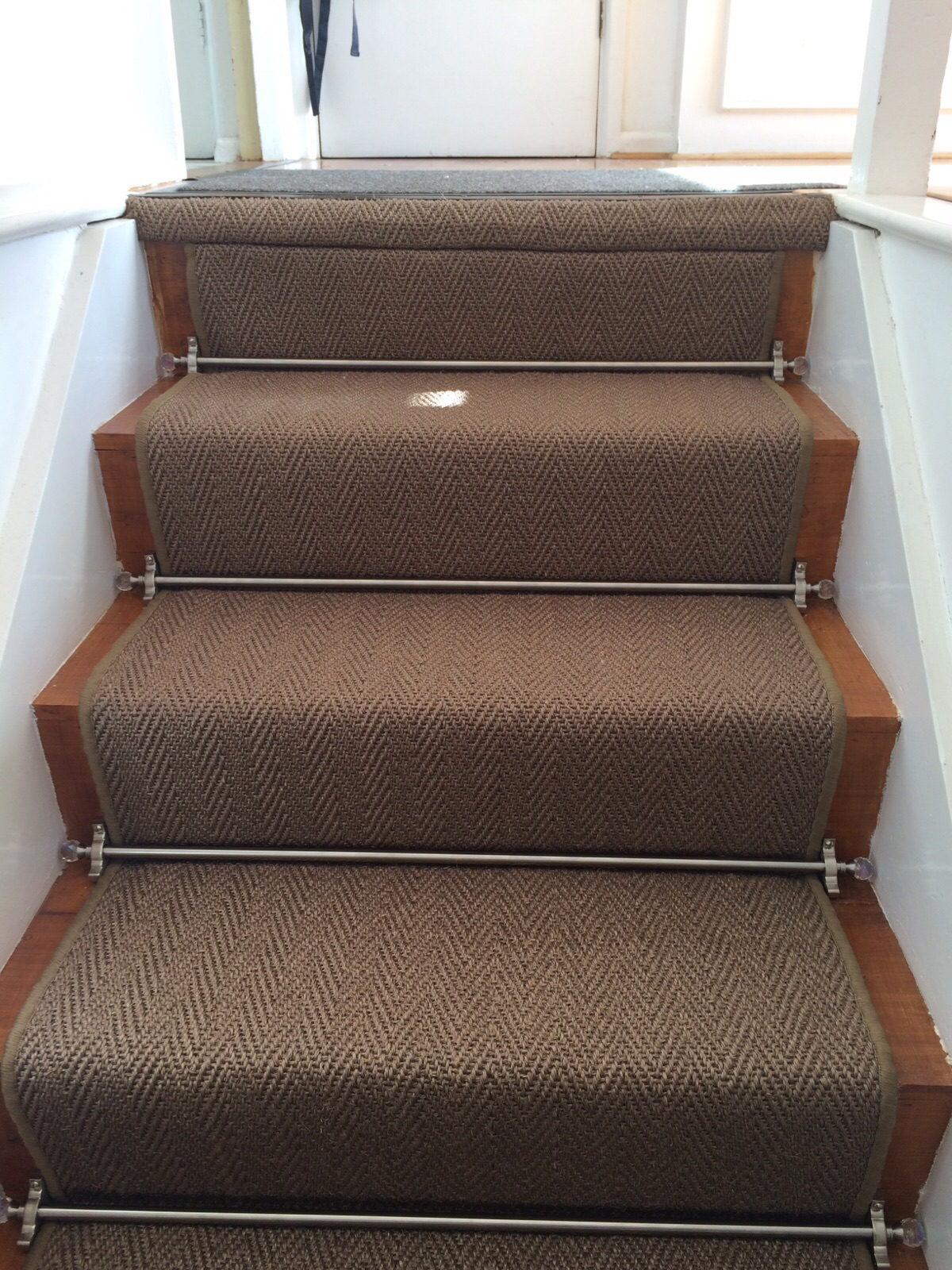 Alternative, Sisal Herringbone with Crystal Stair Rods (8).JPG