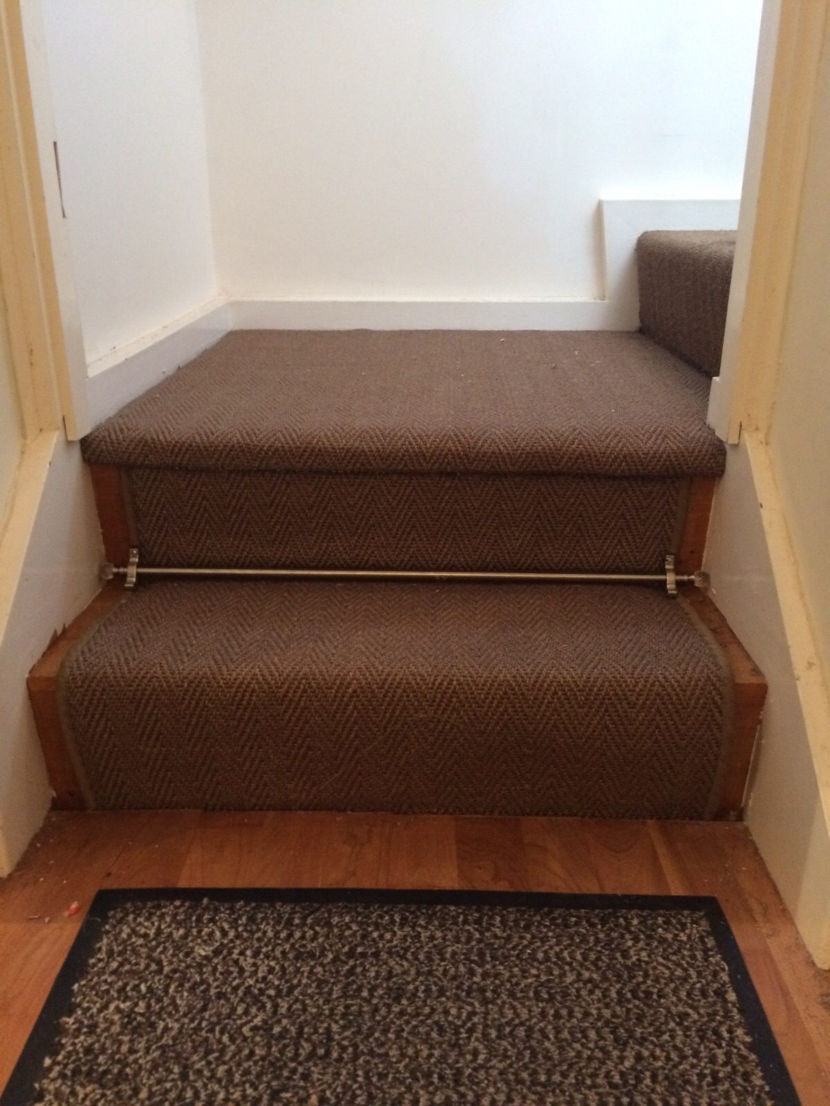Alternative, Sisal Herringbone with Crystal Stair Rods (5).JPG