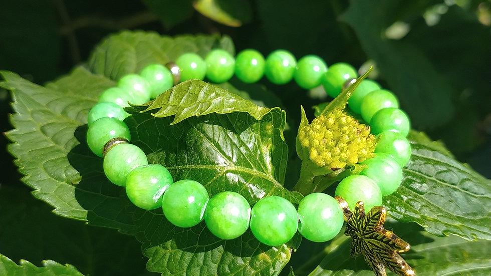 Green Apple Jade Stone Bracelet