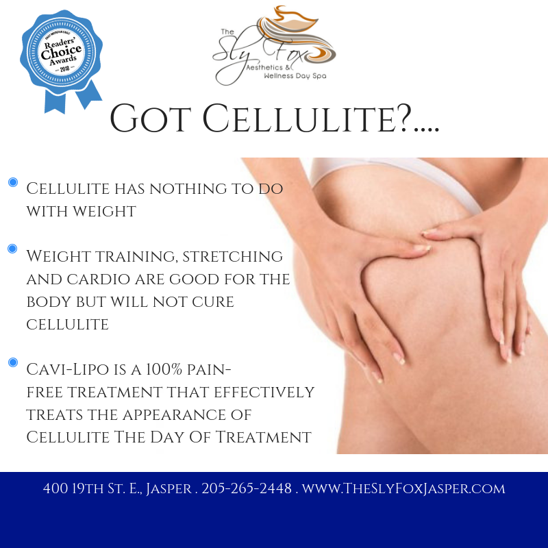 Cellulite has nothing to do with weightW