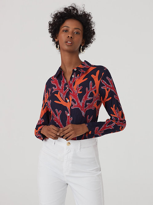 """Nice Things - Chemise basique #99 """"Corals Print"""""""