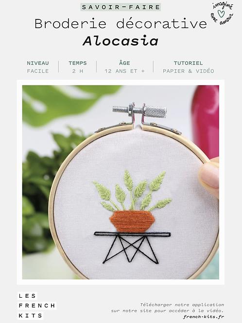 kit broderie décorative - Alocasia