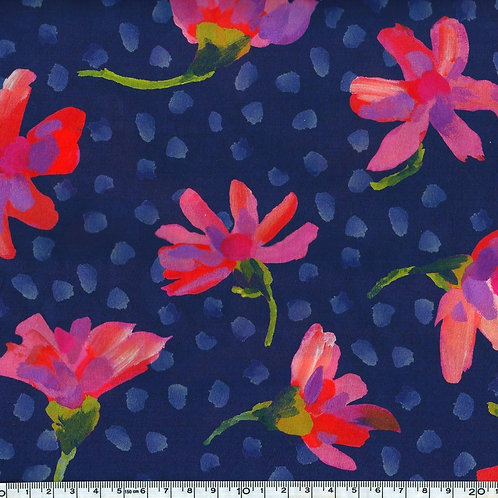 Liberty - Sun Daisy Bleu x10 cm